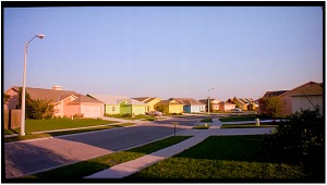 Tim Burton's depiction of suburbia in Edward Scissorhands--a surreal version of the truth