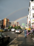 Believe it or not, the end of our trip was marked by a double rainbow in Washington DC--one for each of us!