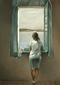 Figure at a Window: Salvadore Dali