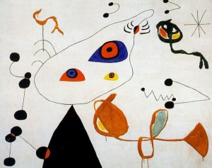 Joan Miro: Woman and Bird in the Night